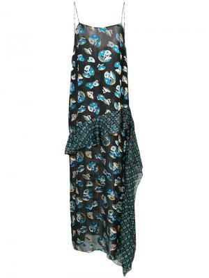 Платье макси с принтом Anna Sui. Цвет: чёрный