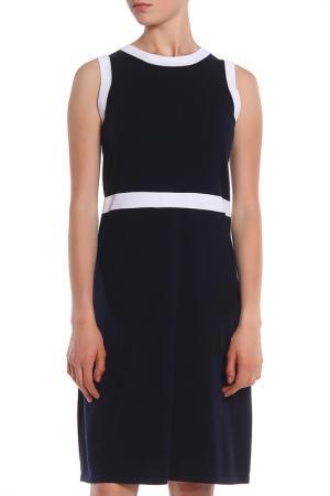Офисное платье с контрастной отделкой UNQ. Цвет: черный