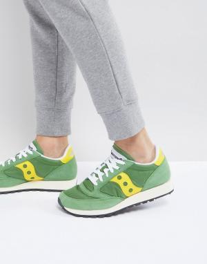 Saucony Зеленые кроссовки Jazz Original S70368-17. Цвет: зеленый