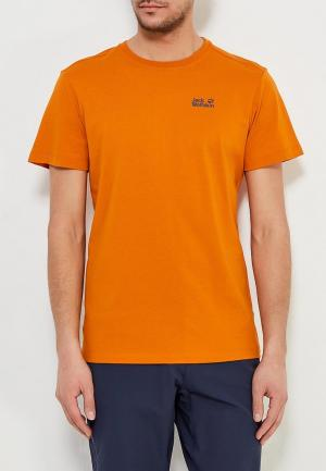 Футболка Jack Wolfskin. Цвет: оранжевый