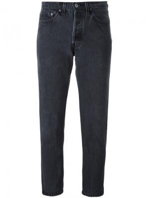 Укороченные джинсы Re/Done. Цвет: серый