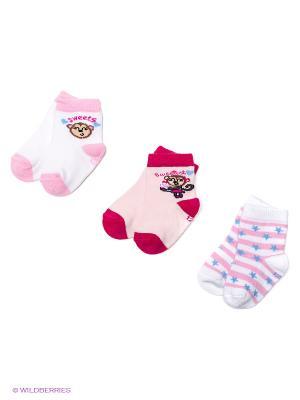 Носки PERA MAYA. Цвет: бледно-розовый, розовый, белый