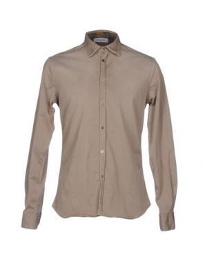 Pубашка AGLINI. Цвет: бежевый