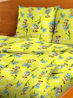 Комплект постельного белья Letto. Цвет: желтый