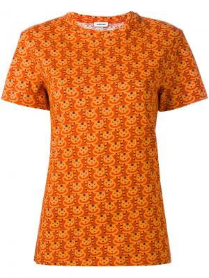 Футболка с принтом котов Au Jour Le. Цвет: жёлтый и оранжевый