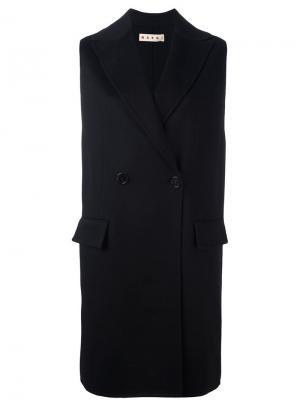 Пальто без рукавов Marni. Цвет: чёрный