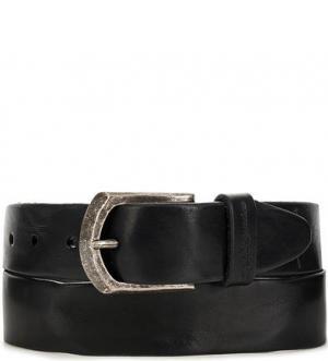 Черный кожаный ремень aunts & uncles. Цвет: черный