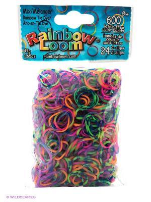 Резиночки Радужный Микс RAINBOWLOOM. Цвет: голубой