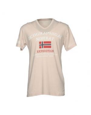 Футболка GEOGRAPHICAL NORWAY. Цвет: бежевый