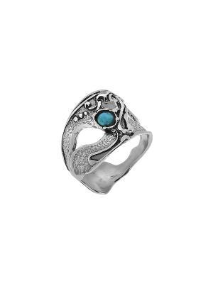 Кольцо DEN'O. Цвет: серебристый, бирюзовый