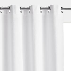 Штора однотонная с люверсами, 100% хлопок, PANAMA La Redoute Interieurs. Цвет: белый,коралловый,охра,серый,синий прусский