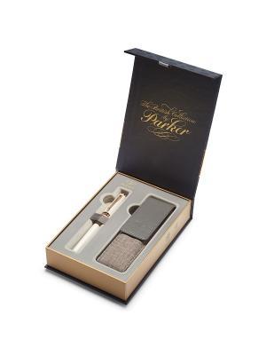 Набор Ручка 5th mode INGENUITY Slim Pearl Lacquer PGT + чехол д/ручки Parker. Цвет: белый
