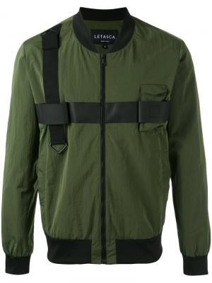 Куртка-бомбер Letasca. Цвет: зелёный