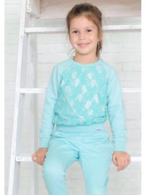 Свитшот для девочек iRMi. Цвет: морская волна
