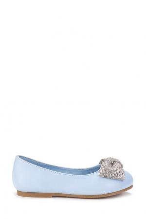 Голубые туфли с блестящим бантом Age of Innocence. Цвет: голубой