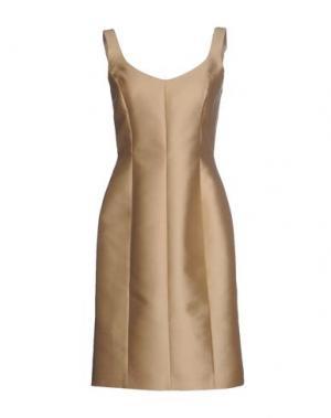Платье до колена DICE KAYEK. Цвет: песочный