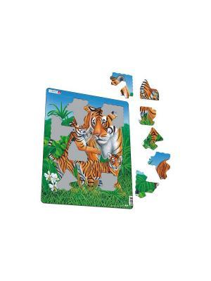 Пазл Тигр LARSEN AS. Цвет: белый, голубой, желтый, зеленый, оранжевый, синий