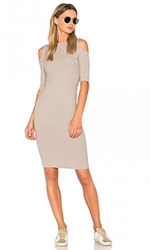 Платье korie sen. Цвет: оливковый