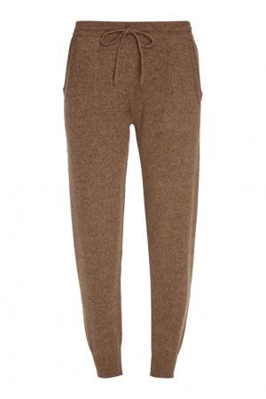 Бежевые кашемировые брюки Addicted. Цвет: бежевый