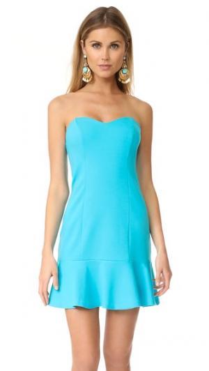 Платье Rocky Amanda Uprichard. Цвет: бирюзовый