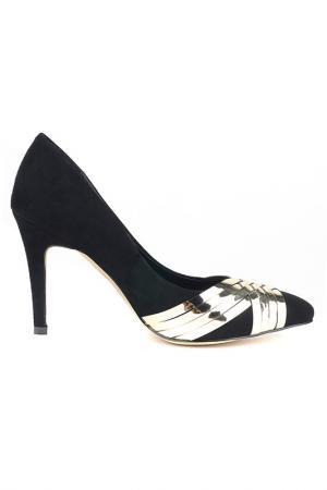 Туфли RIDLSTEP. Цвет: черный, золотистый