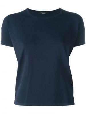 Базовая футболка Roberto Collina. Цвет: синий