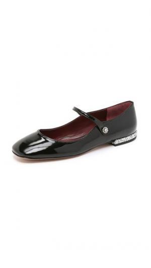 Обувь на плоской подошве Brooke Mary Jane Marc by Jacobs. Цвет: голубой