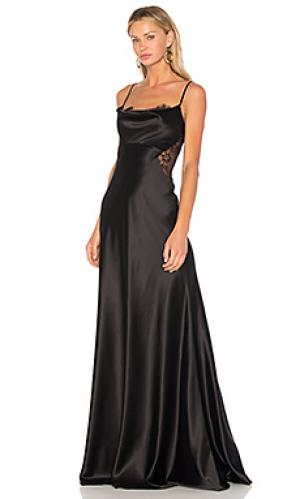 Вечернее платье с кружевной вставкой JILL STUART. Цвет: черный