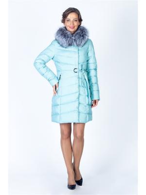 Пальто FREYA. Цвет: бирюзовый