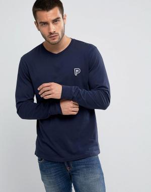 Penfield Темно-синий лонгслив классического кроя с логотипом Copley. Цвет: темно-синий