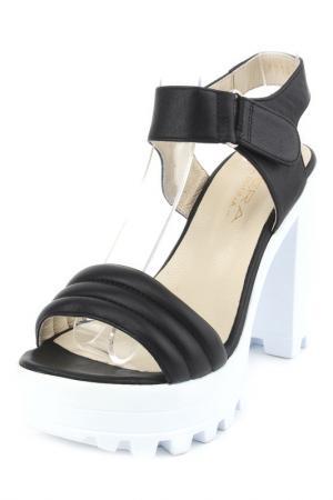 Туфли летние открытые PERA DONNA. Цвет: черный
