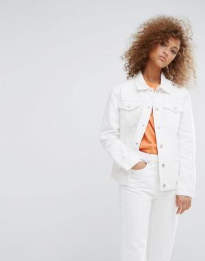 Weekday Джинсовая куртка. Цвет: белый