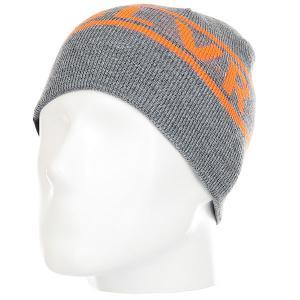 Шапка детская  Knox Kids Beanie Hats Grey Heather Quiksilver. Цвет: серый,оранжевый