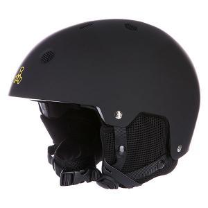 Шлем для сноуборда  Snow With Audio Rubber Black Triple Eight. Цвет: черный