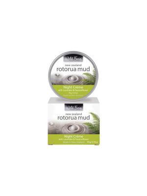 Регенерирующий ночной крем для лица с термальной грязью RMNC Роторуа Лаванда и Страстоцвет, 95 гр. Wild Ferns. Цвет: белый