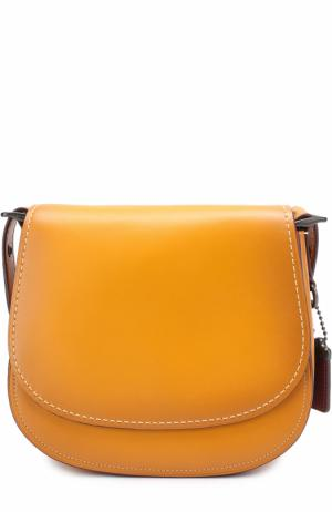 Сумка Saddle Bag 23 Coach. Цвет: желтый