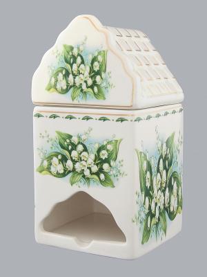 Банка для чайных пакетиков Ландыши Elan Gallery. Цвет: белый, зеленый