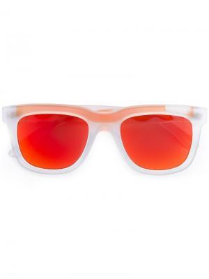 Солнцезащитные очки в квадратной оправе Italia Independent. Цвет: жёлтый и оранжевый
