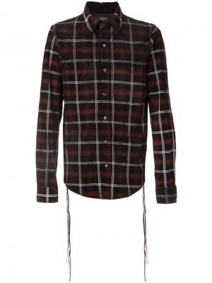 Plaid button down shirt Amiri. Цвет: чёрный