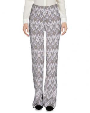 Повседневные брюки CHARLOTT. Цвет: голубиный серый
