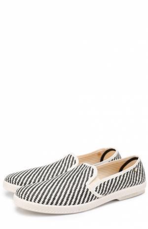 Плетеные эспадрильи с узором Rivieras Leisure Shoes. Цвет: черно-белый