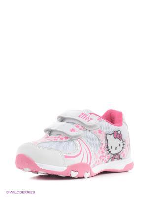 Кроссовки Hello Kitty. Цвет: белый, розовый