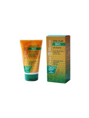 Крем для загара BIO с органич. маслами оливы, авокадо, жожоба и экстрактом алое. фактор 30 Frais Monde. Цвет: молочный