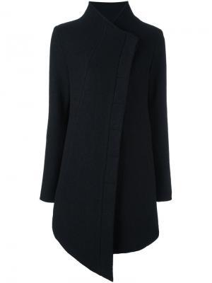 Асимметричное пальто Thom Krom. Цвет: чёрный