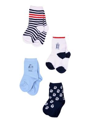 Носки, 4 пары Malerba. Цвет: синий
