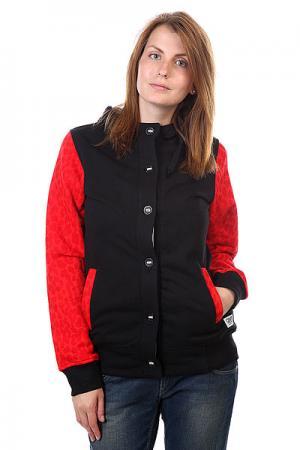 Толстовка женская  Punk Hood Black CLWR. Цвет: черный,красный