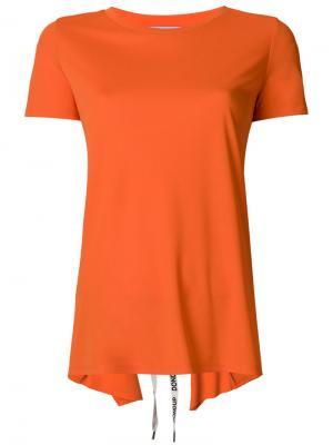 Асимметричная футболка Dondup. Цвет: жёлтый и оранжевый
