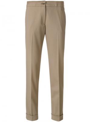 Укороченные плиссированные брюки Etro. Цвет: телесный