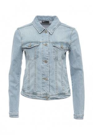 Куртка джинсовая oodji. Цвет: голубой