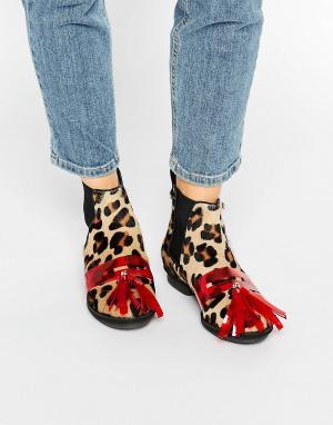 House of Holland Ботинки челси с леопардовым принтом. Цвет: мульти
